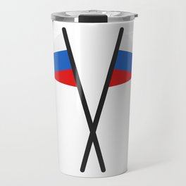 Russia flag Travel Mug