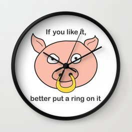 better put a ring on it Wall Clock