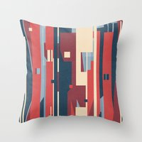 metropolis Throw Pillows featuring Metropolis by Tracie Andrews