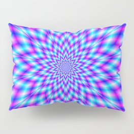 Fuzzy Star in Blue and Pink Pillow Sham