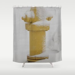 Yellow Fire Hydr Shower Curtain