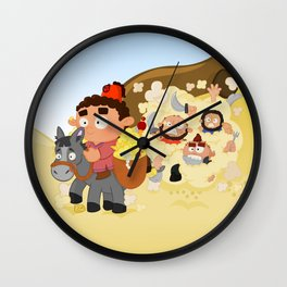 Ali Baba and the 40 thieves (Arabian nights) Wall Clock