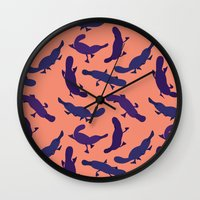 platypus Wall Clocks featuring Platypus by Taylor Stone