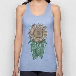 Cheerful Sunflower Unisex Tank Top