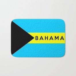 bahamas country flag name text Bath Mat