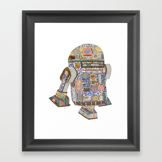 R2D2 Crashed Into A Flower Shop Framed Art Print