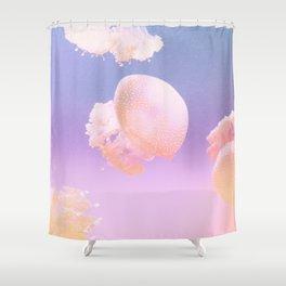 01_Jelly fish#retro#film#effect Shower Curtain