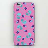 dolphins iPhone & iPod Skins featuring dolphins by lindseyclare