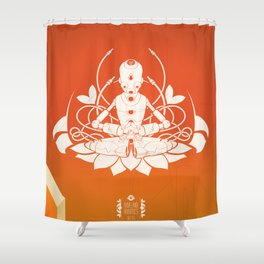 Opening the higher state of consciousness Shower Curtain