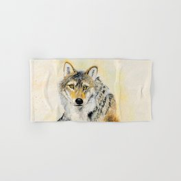 Totem Grey wolf Hand & Bath Towel