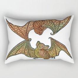 Colorful Belcher Mosaic Bats Rectangular Pillow