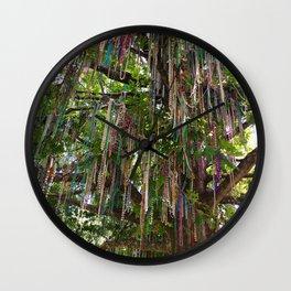 Bead Tree (New Orleans) Wall Clock