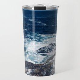 Waves hitting rocks, Clovelly Beach, NSW, Australia Travel Mug