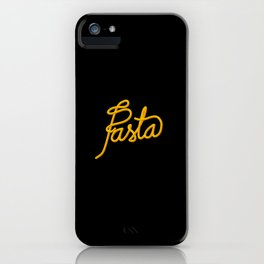 Pasta   [black & yellow] iPhone Case