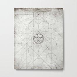 Geometry Sketch 12 Metal Print
