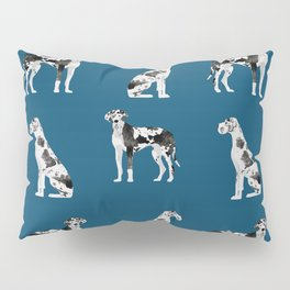 Great Dane harlequin coat dog breed gifts pet patterns for pure breed lovers Pillow Sham