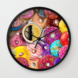 Donuts & Coffee Wall Clock