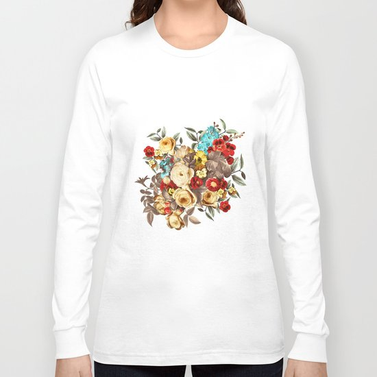 Watercolors Floral Pattern Long Sleeve T-shirt