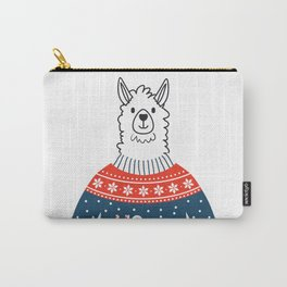 Funny Llama Christmas Seasonal Silly Holiday Design Carry-All Pouch