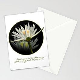 Yoga 9 Cute Graphic Lotus Flower Meditation T-Shirt Stationery Cards