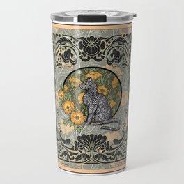Cat Nouveau Travel Mug