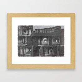 Monastery collage Framed Art Print