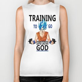 Training to go Super Saiyan God Biker Tank