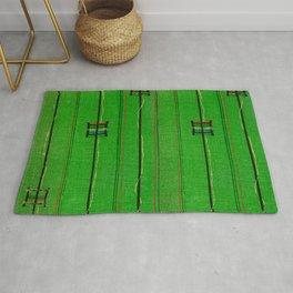 Symbols On Green Background Japanese Shima-Shima Pattern Rug