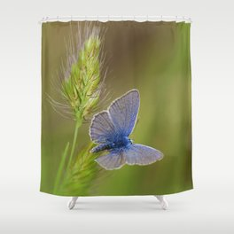 The blue lady Shower Curtain