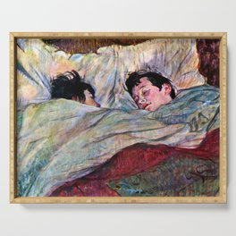 """Henri de Toulouse-Lautrec """"The Bed"""" Serving Tray"""