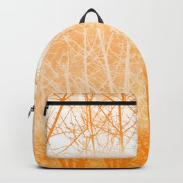 Frosted Winter Branches in Dusty Orange Backpack