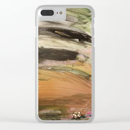 Quicksand Roses blooming Clear iPhone Case