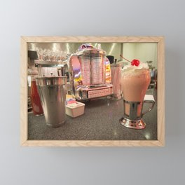 Strawberry Malt Shake  Framed Mini Art Print