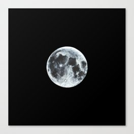 Full Moon Painting Canvas Print