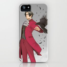 Fake Poster Miles Edgeworth: Ace Attorney iPhone Case