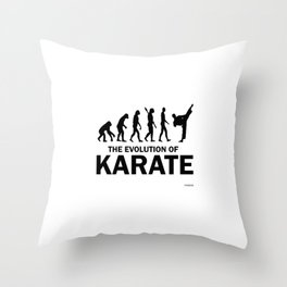 Karate martial arts sports power struggle gift Throw Pillow