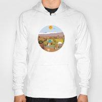 arab Hoodies featuring Peaceful Arab village In the desert by Design4u Studio