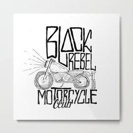 black rebel motorcycle unofficial Metal Print