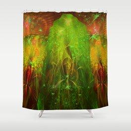 Fractal Angels VI Shower Curtain