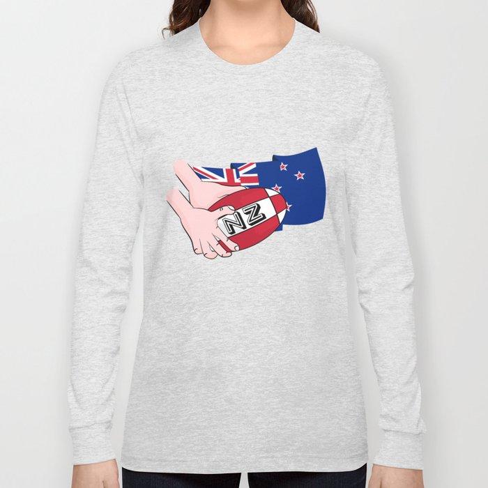 Rugby Ball New Zealand Long Sleeve T-shirt