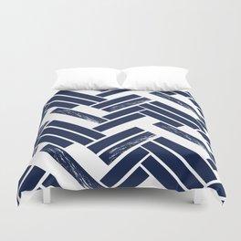 Modern Chevron - Blue Duvet Cover