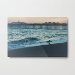 the lone surfer ... Metal Print