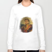 patrick Long Sleeve T-shirts featuring Patrick Swayze - replaceface by replaceface
