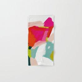 abstract pink art Hand & Bath Towel
