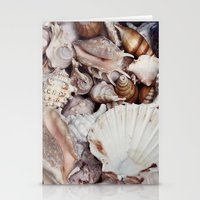 seashell Stationery Cards featuring seashell by Pink Revenge