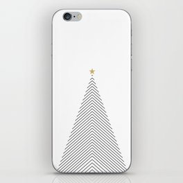 Minimal Christmas Tree #society6 #decor #buyart iPhone Skin