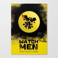 watchmen Canvas Prints featuring Watchmen poster by Lionel Hotz