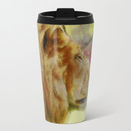 """The King"" Big Cat Lion Artwork Travel Mug"