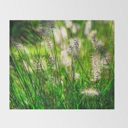 Grass (1) Throw Blanket