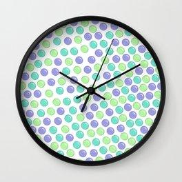 Bubble Drops Pattern Print Wall Clock